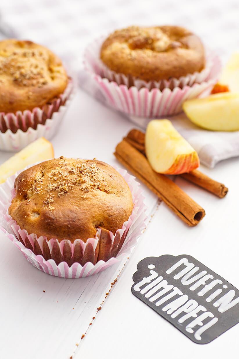 muffins mit apfel und zimt rezept zum selber backen. Black Bedroom Furniture Sets. Home Design Ideas