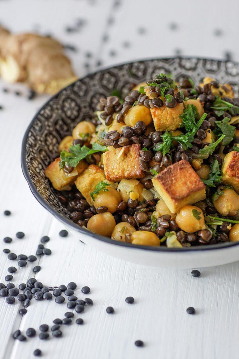 Linsencurry mit Tofu vegetarisch