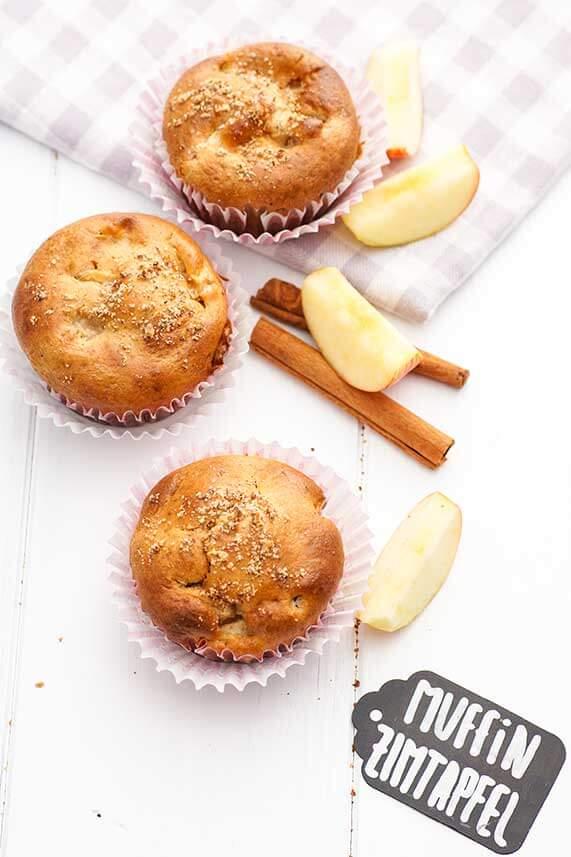 Einfaches Rezept für Apfel Zimt-Muffins