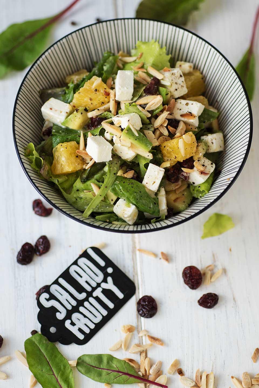 Salat mit Orangen-Senf-Dressing - Rezept