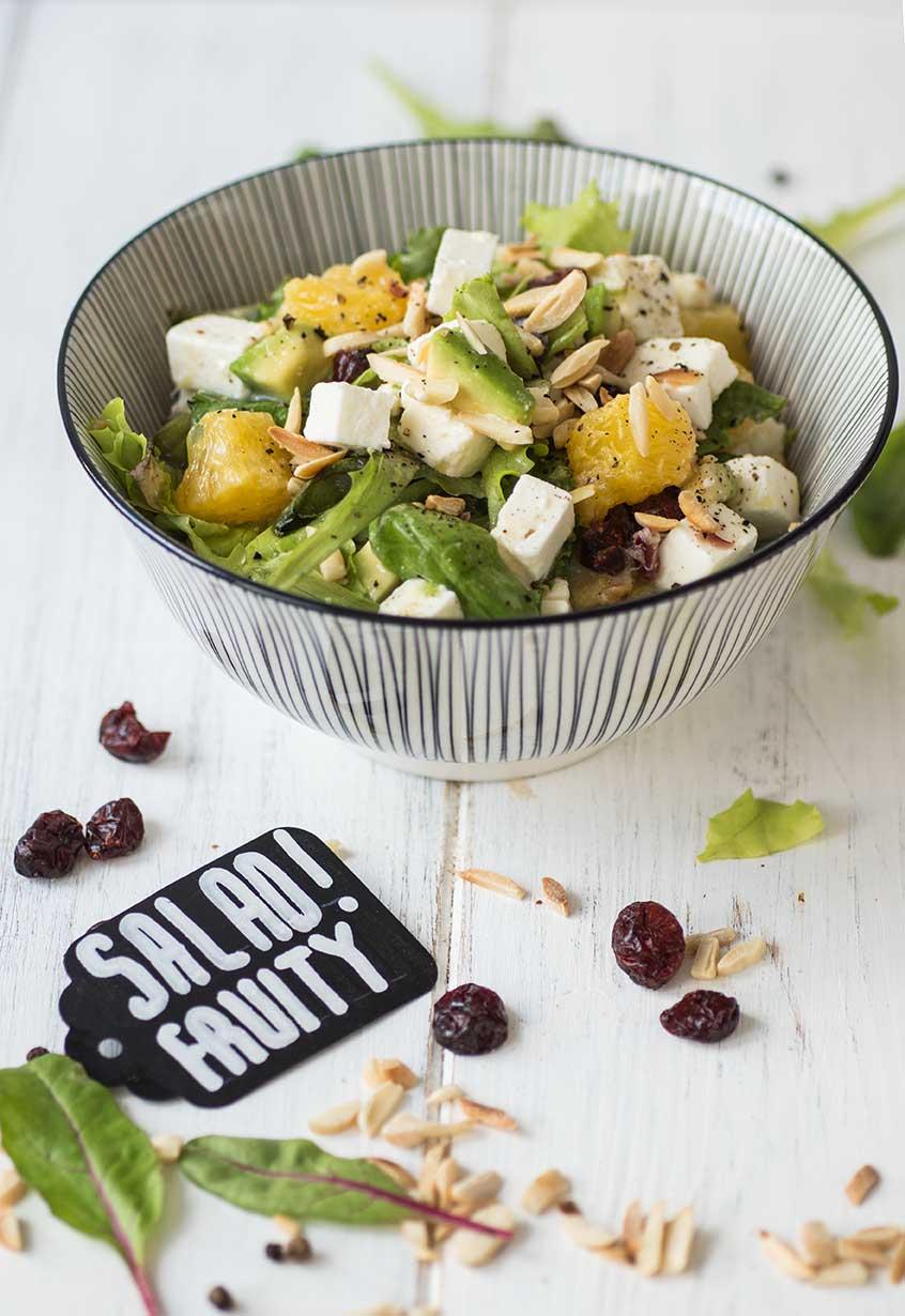 Rezept für Salat mit Orangen-Senf-Dressing