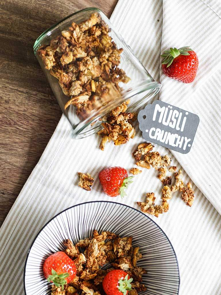 Rezept für knuspriges Müsli mit Crunch zum selber machen