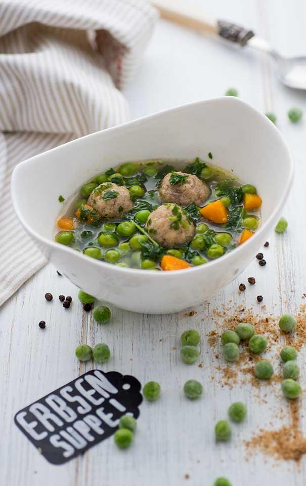 Erbsensuppe mit Klößchen Rezept vegetarisch