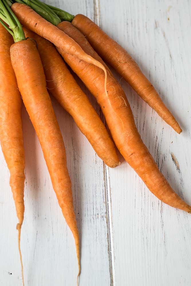 Karotten am Bündel