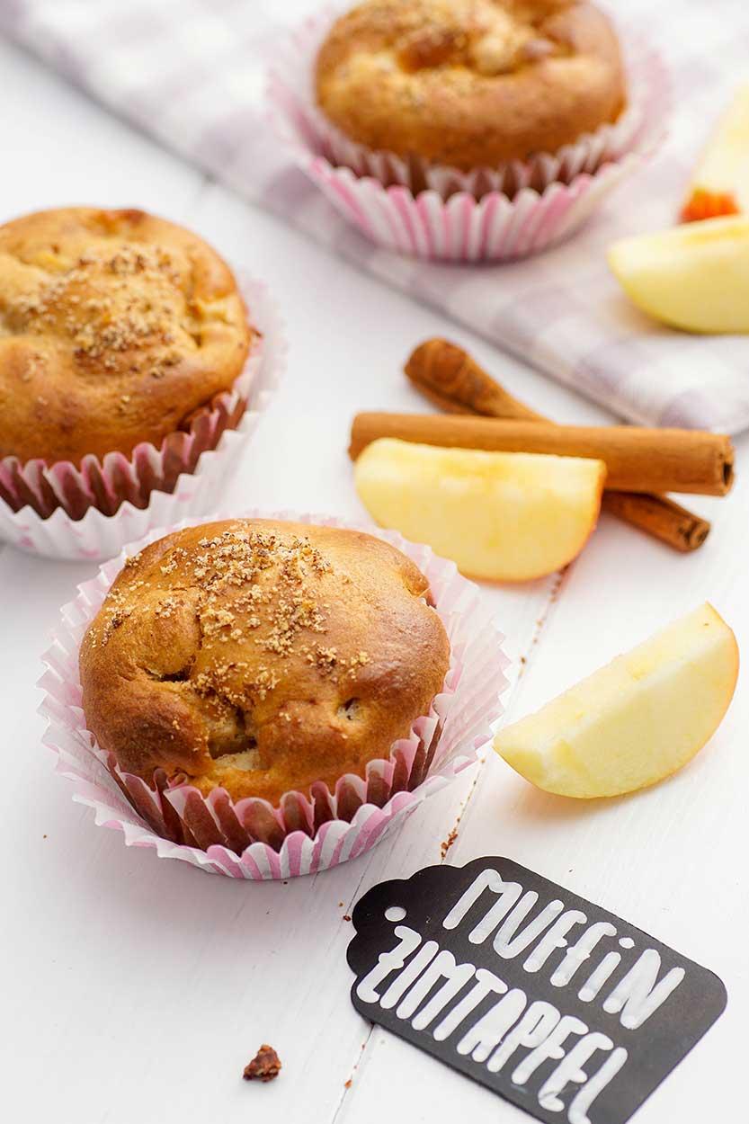 Muffin mit Apfel zubereiten