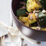 gebratene Zucchini-Pfanne