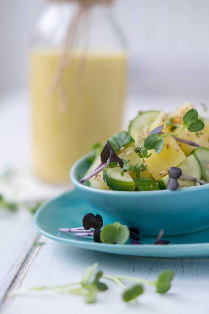Kartoffel-Gurken Salat mit Dip