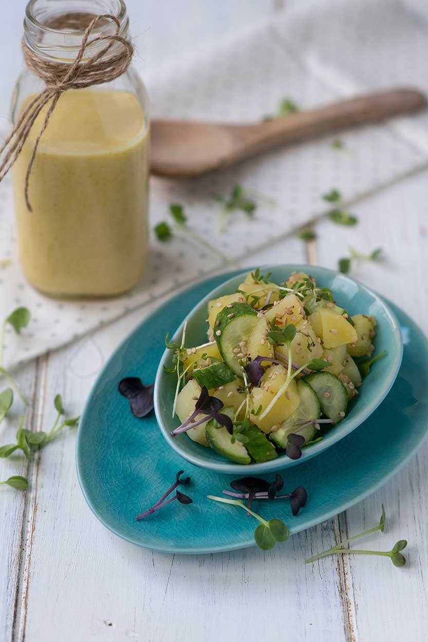 Kartoffel-Gurken Salat schnell zubereiten