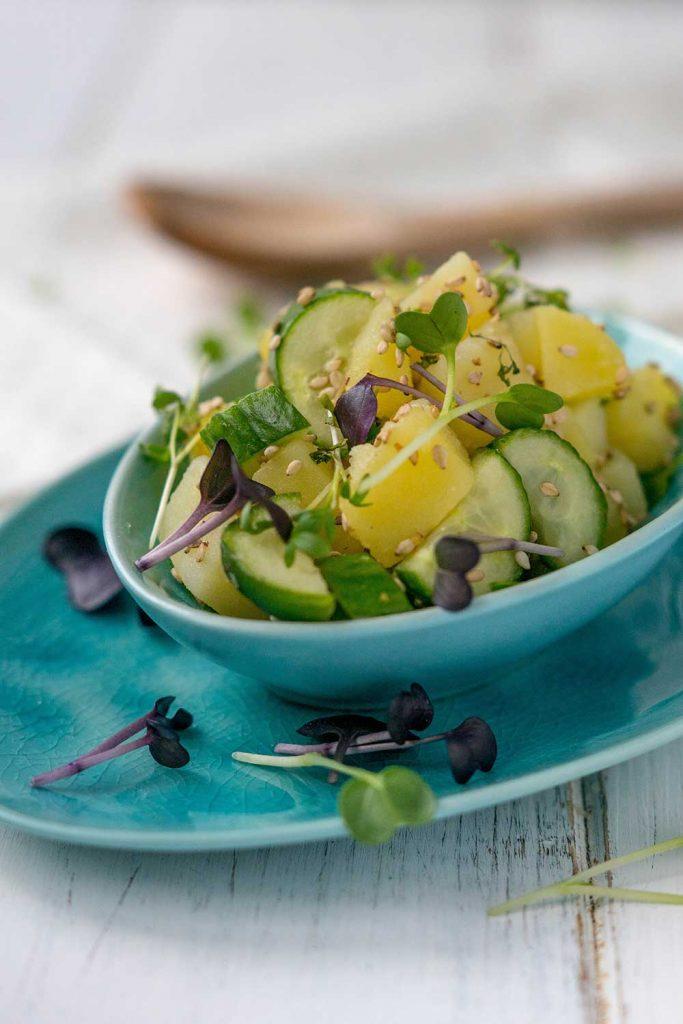 Kartoffel-Gurken Salat Rezept