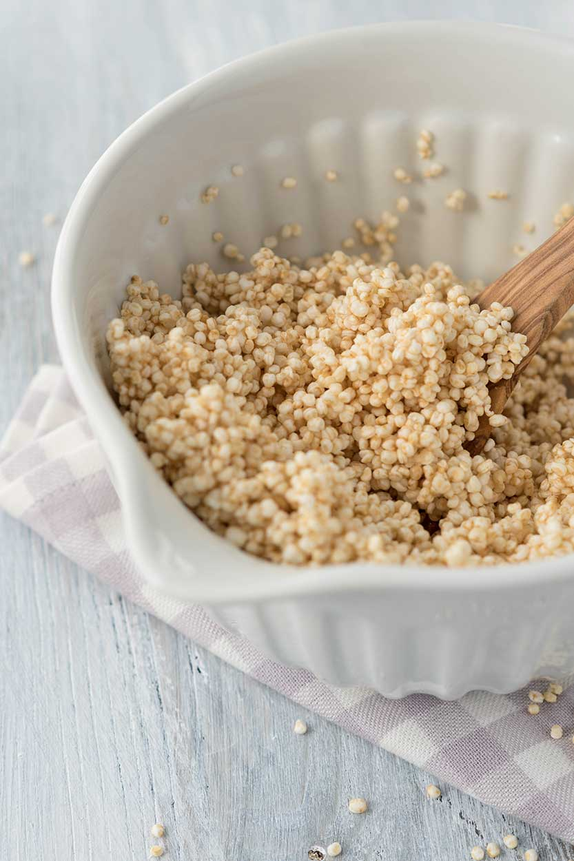Gepuffter Quinoa Schüssel - Zubereitung