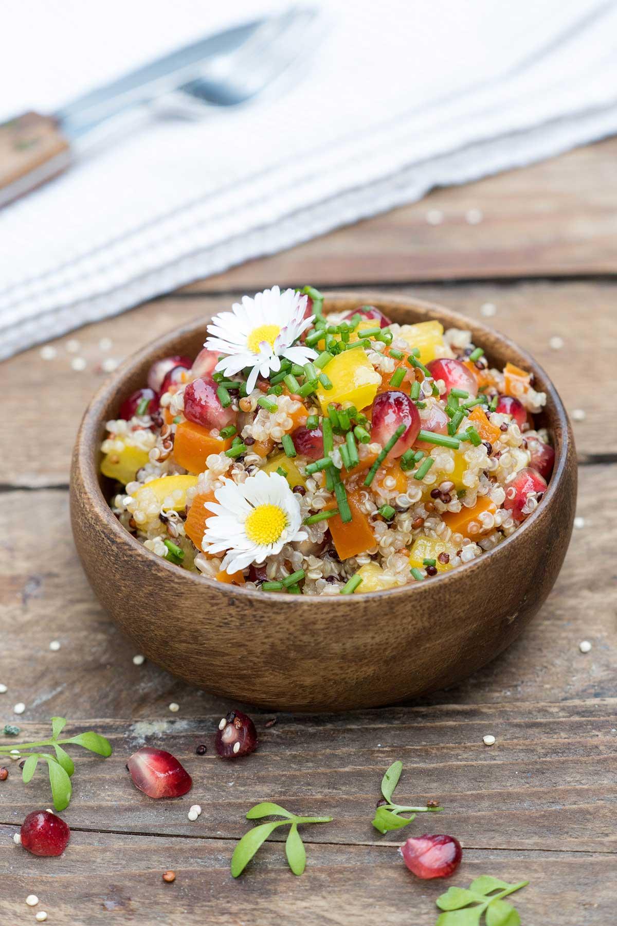 Quinoa-Salat mit Paprika