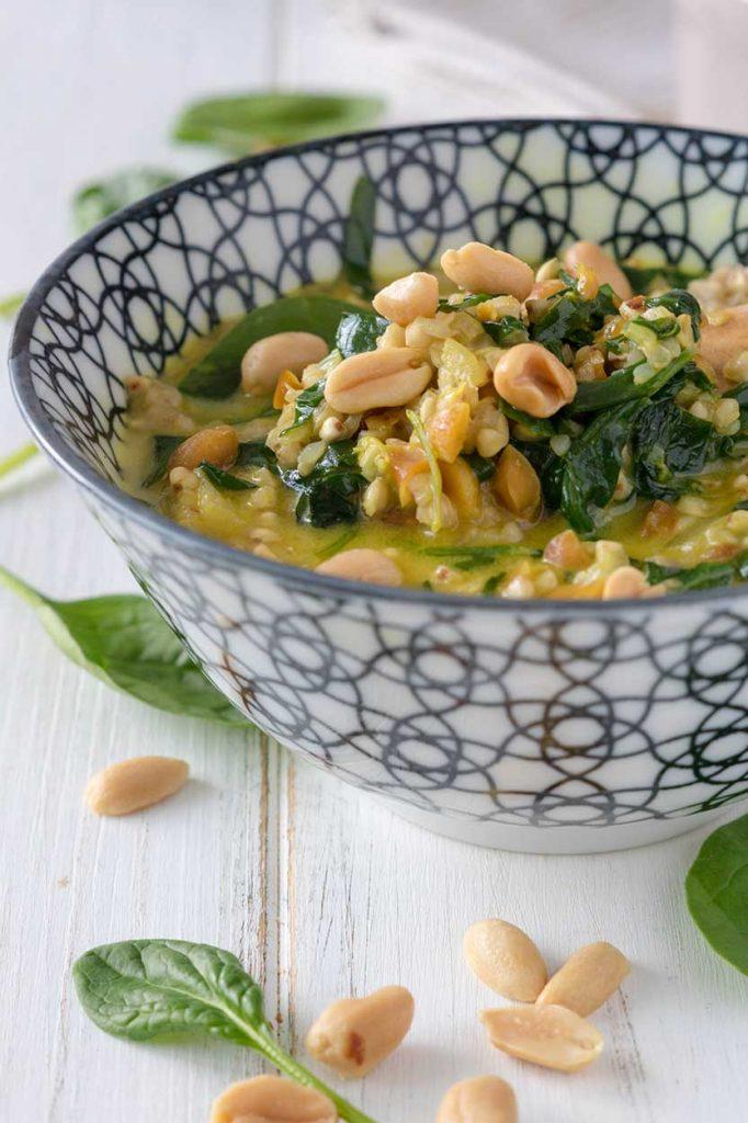 Spinat-Buchweizen-Pfanne zubereiten