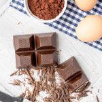 Schokolade Eier Kakaopulver