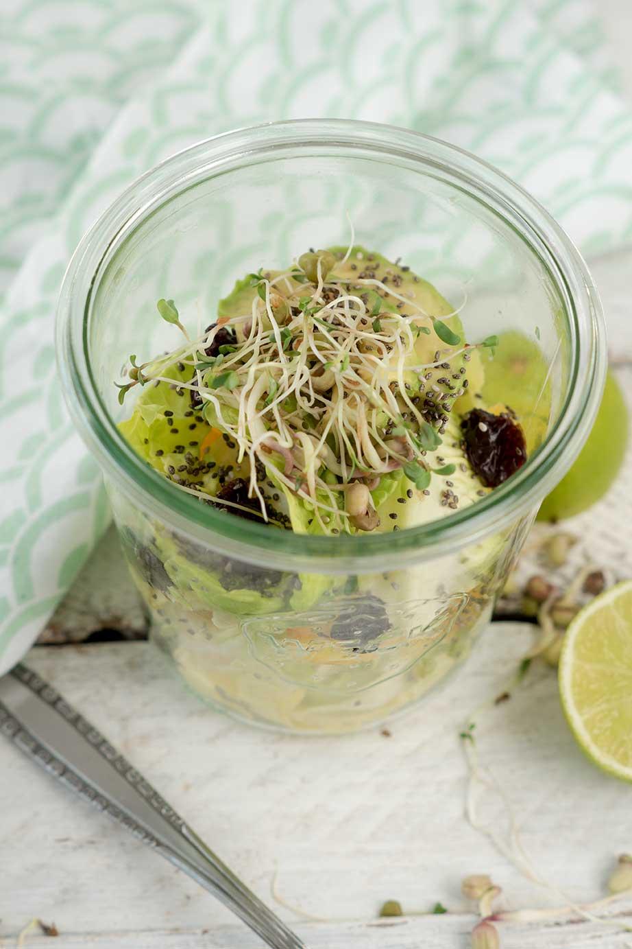 Chicoree Salat im Glas