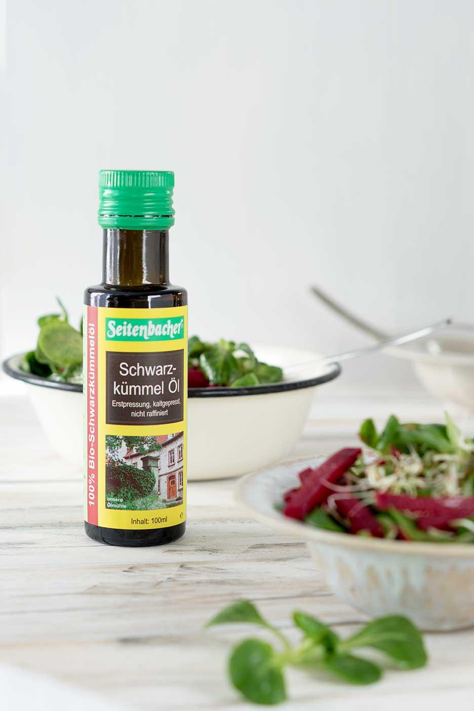 Schwarzkümmel Öl für Salat