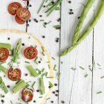 Überbackene Tortillas mit Spargel und Gemüse