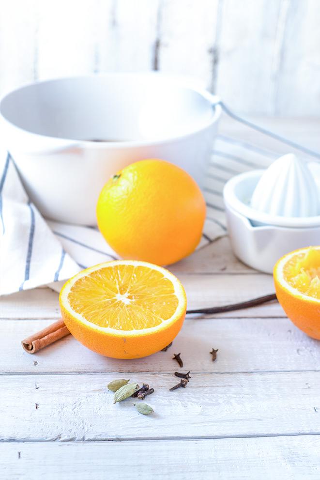 Orangen für einen Orangenpunsch