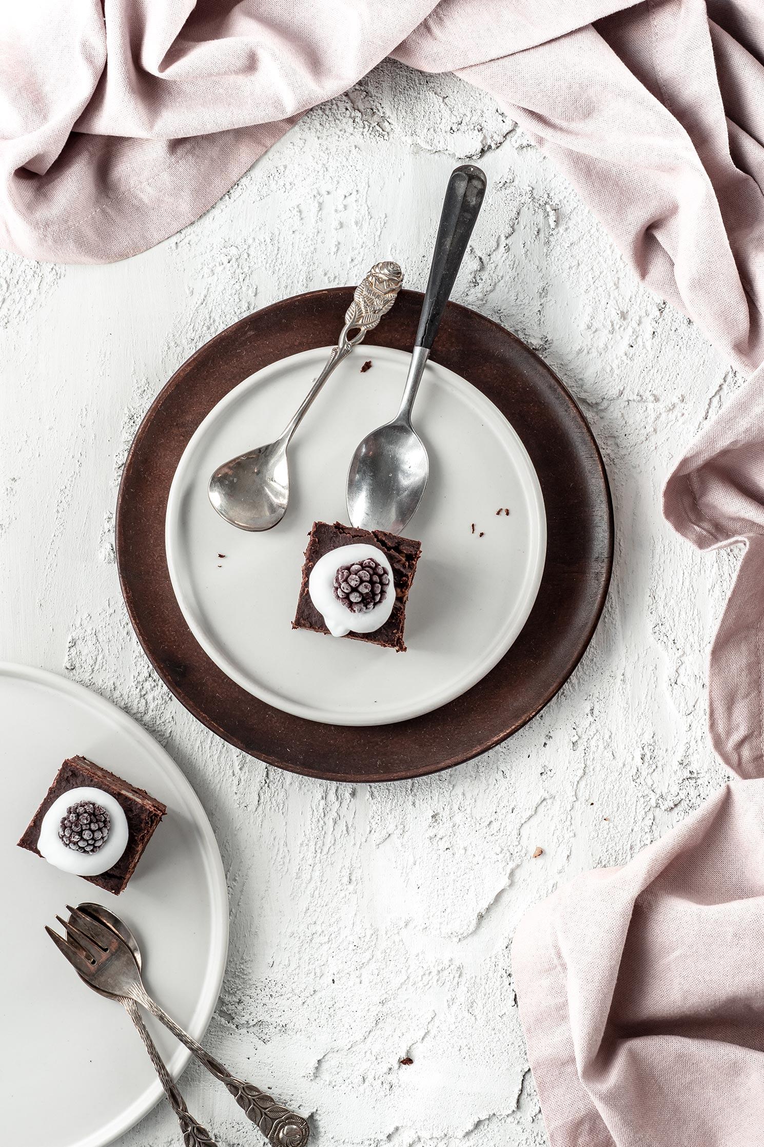 Brownies mit Sahne