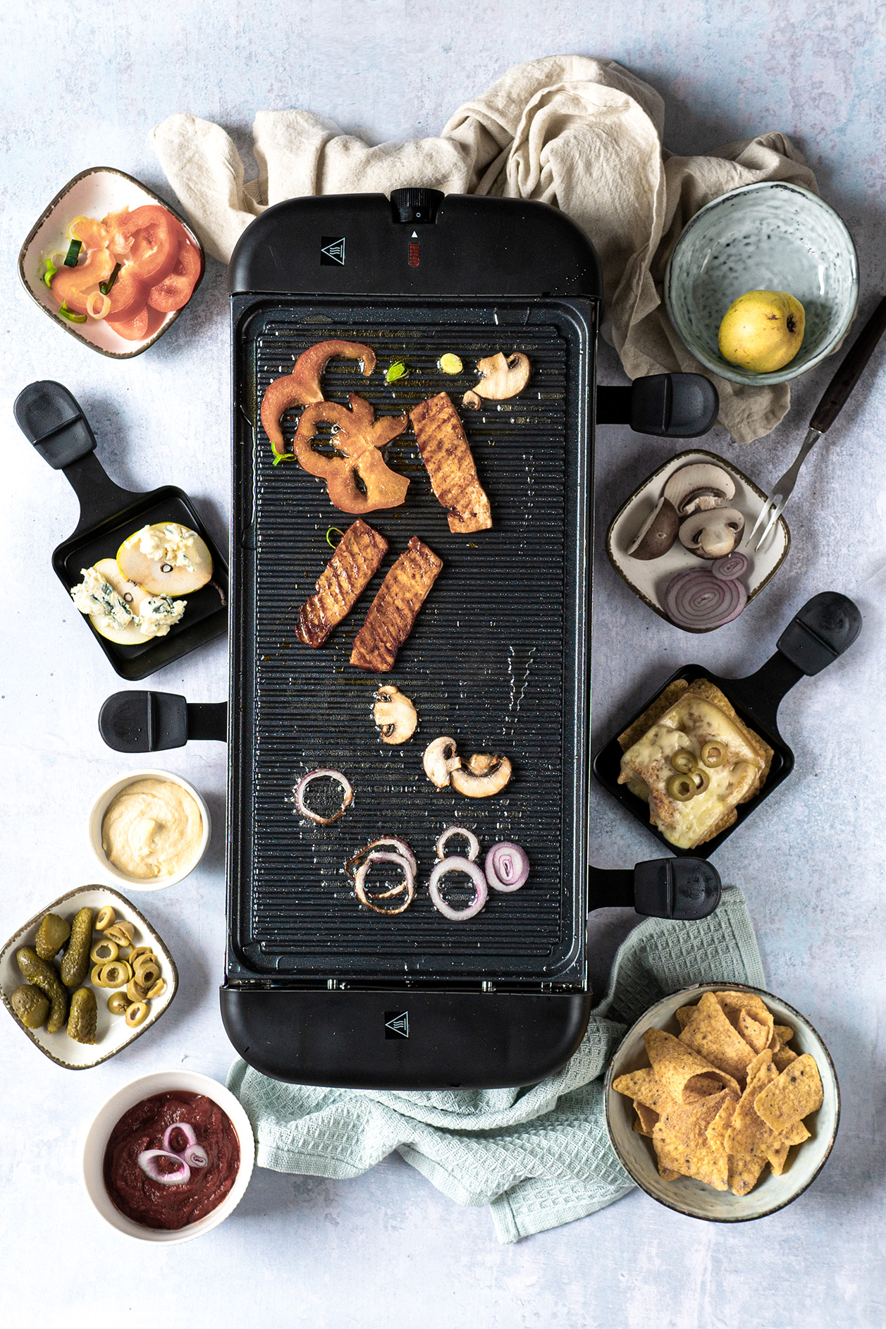 Raclette Ideen und verschiedene Dips