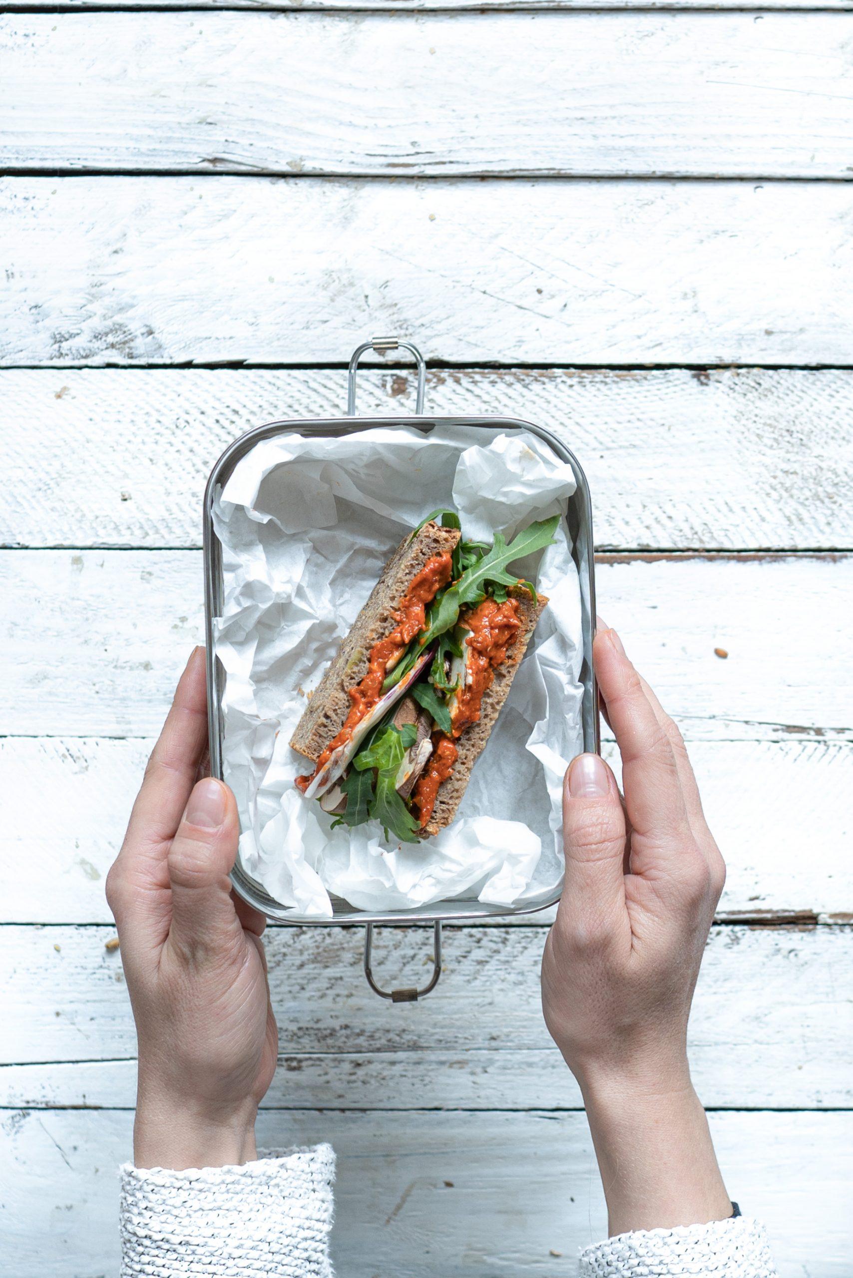 Sandwich in einer Brotbox
